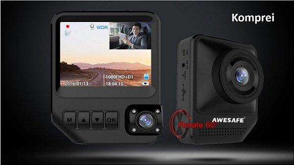 Câmera E Filmadora Veicular 2 Lentes - Exclusiva
