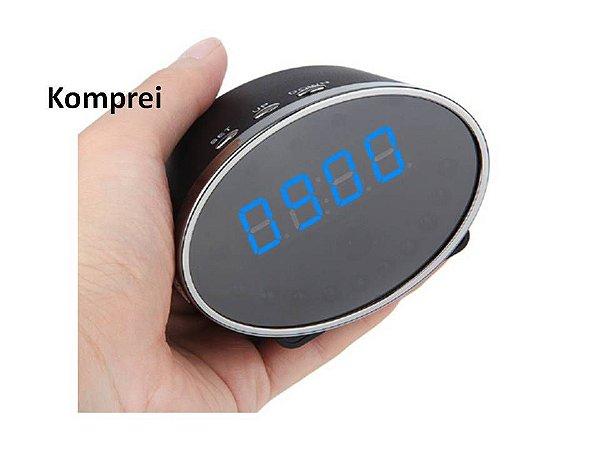 Relógio Espião 1080P Wi-fi Tempo Real Via Celular - Exclusivo