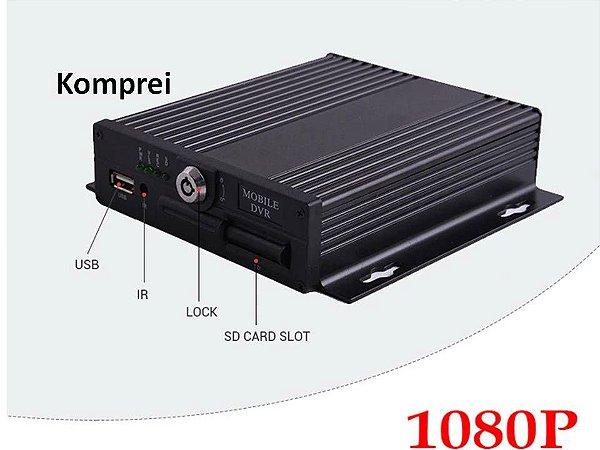 Dvr HD 1080p Veicular Gravador  C/ 4 Canais - Exclusividade