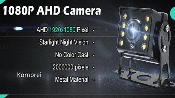 Câmera HD Frontal Ônibus, Caminhão e veículos pesados