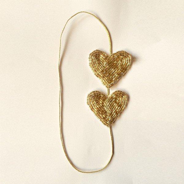 Coração  Dourado Duplo