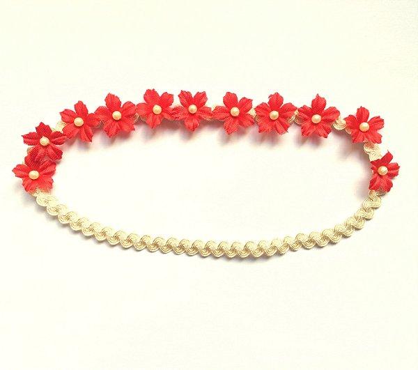 Coroinha mini flores Vermelha