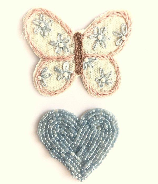 Borbô Jardim + Coração  (Presilha)
