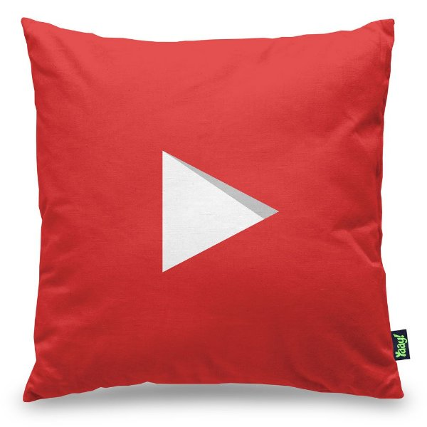 Almofada Youtube Play Button Subscribe