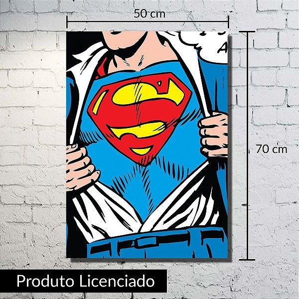 Quadro Tela Superman Grande 50x70