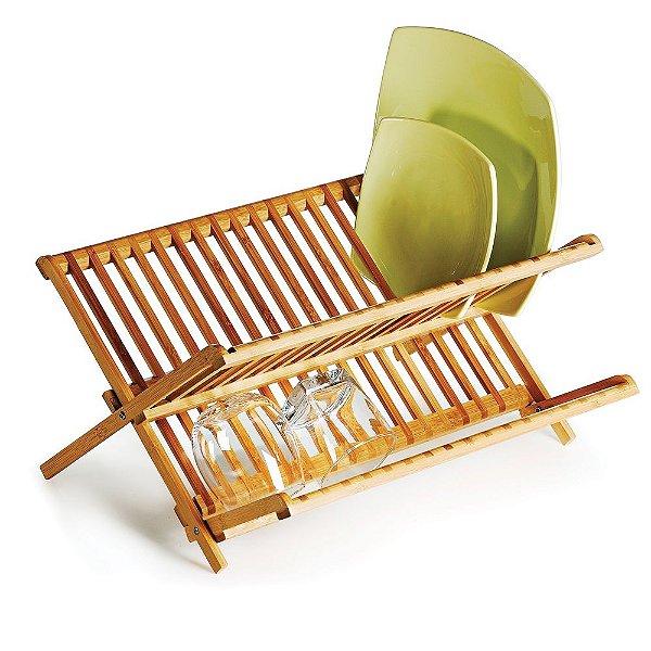 Escorredor de Pratos em Bambu