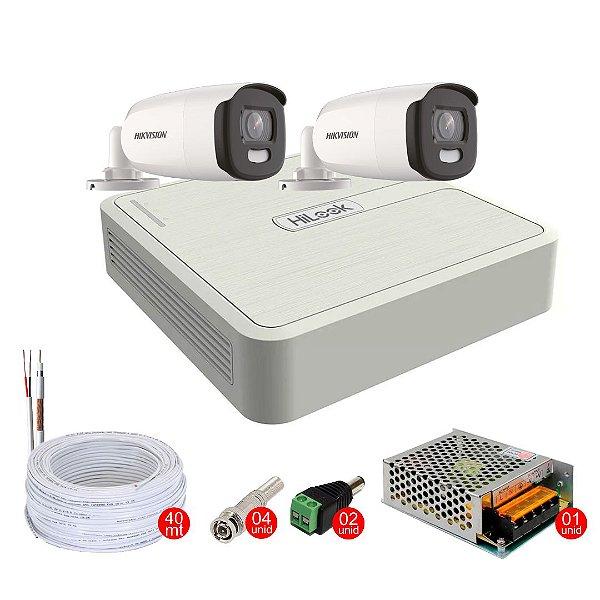 Kit de Segurança com 2 Câmeras Coloridas 24h