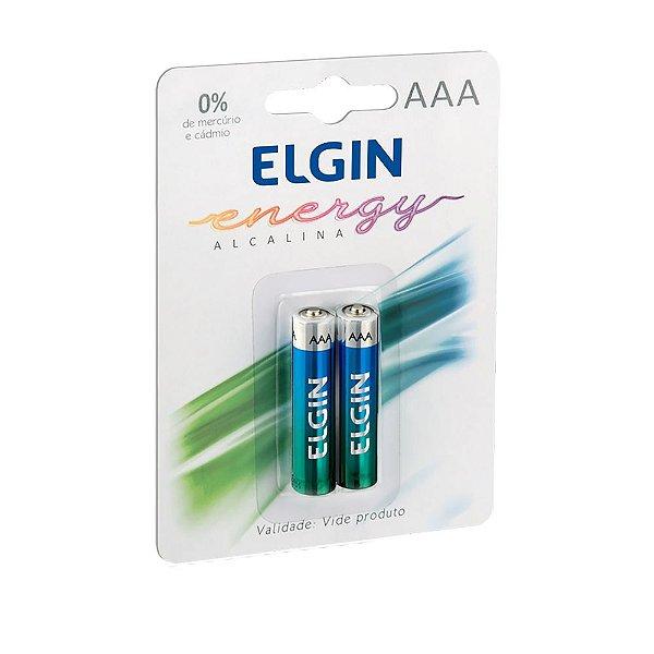 Pilha Alcalina Elgin AAA 1.5V Blister Com 2 Unidades