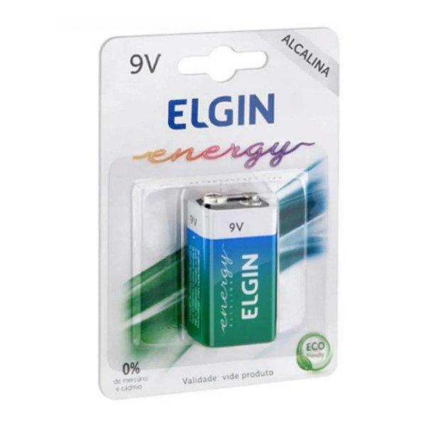 Bateria 9v Alcalina Elgin Blister Com 1 Unidade