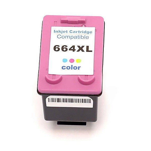 Cartucho de Tinta HP 664 XL Colorido Compatível