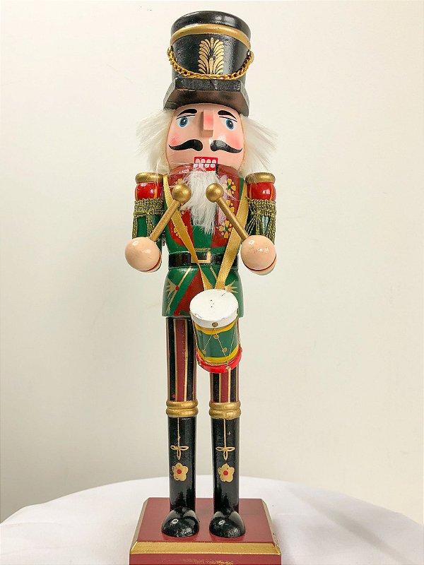 Boneco Quebra Nozes com coroa e espada - 30 cm