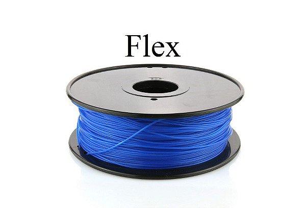 Filamento Flexível Azul