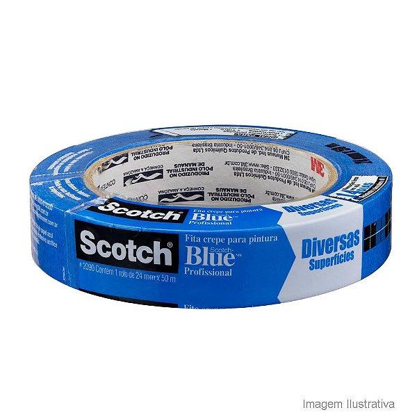 Fita 3M Scotch Blue 24mm x 50 metros