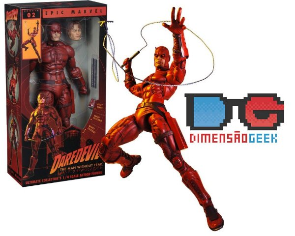 Daredevil Demolidor Marvel Escala 1/4 45 Cm Neca Novo