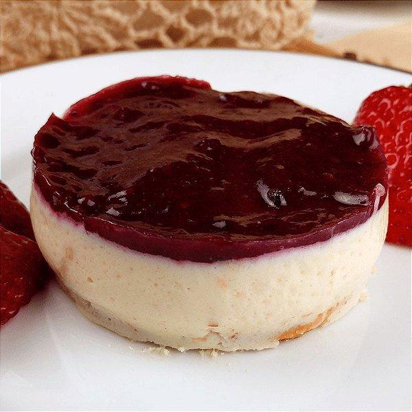 Cheese cake de frutas vermelhas diet