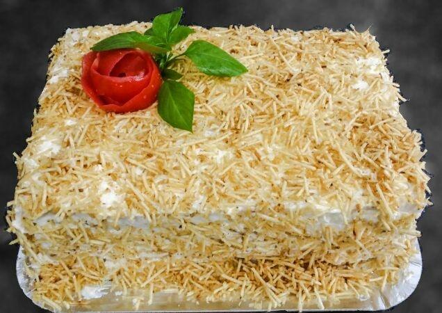 Torta de Pão - Recheio de Peito de Chester