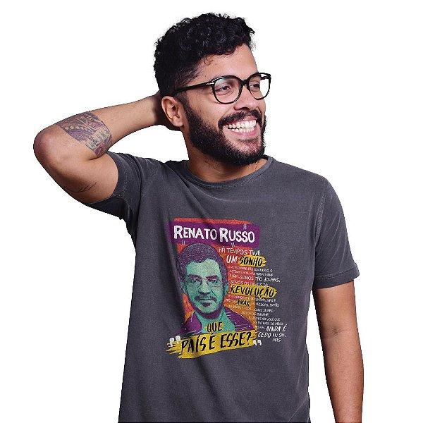 Camiseta Estonada Renato Russo Chumbo