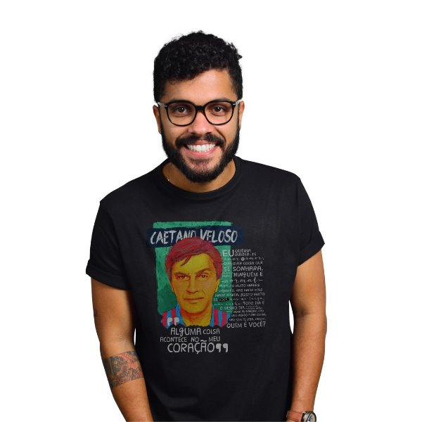 Camiseta Caetano Preta