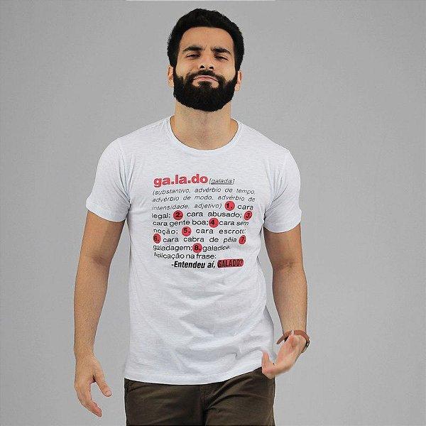 Camiseta Galado Dicionário Branca
