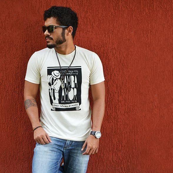 Camiseta Samba Amor Branca