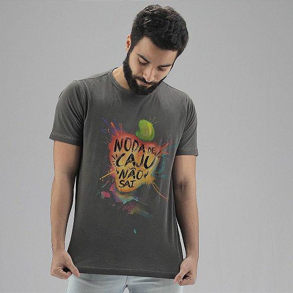 Camiseta Noda de Caju Chumbo