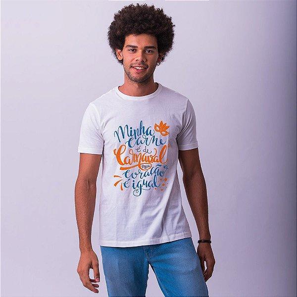 Camiseta Carne de Carnaval Nova Branca