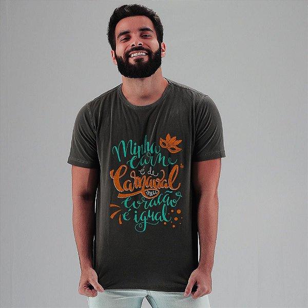 Camiseta Carne de Carnaval Nova Chumbo