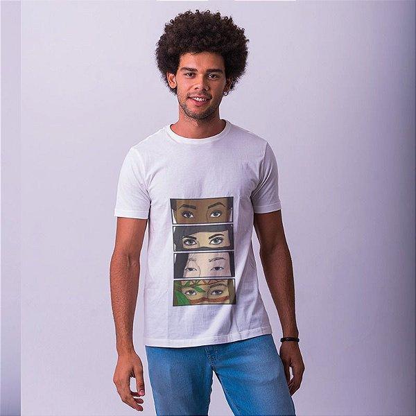 Camiseta Olhares Oprimidos Branca