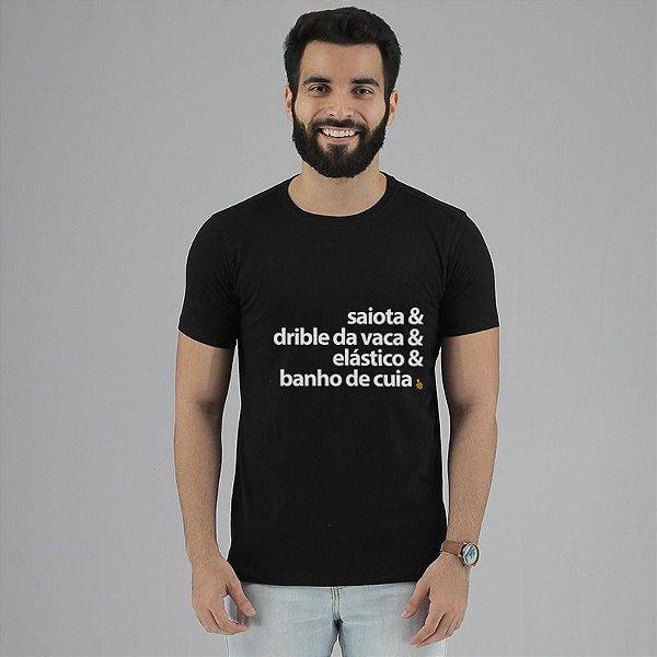 Camiseta Dribles Preta