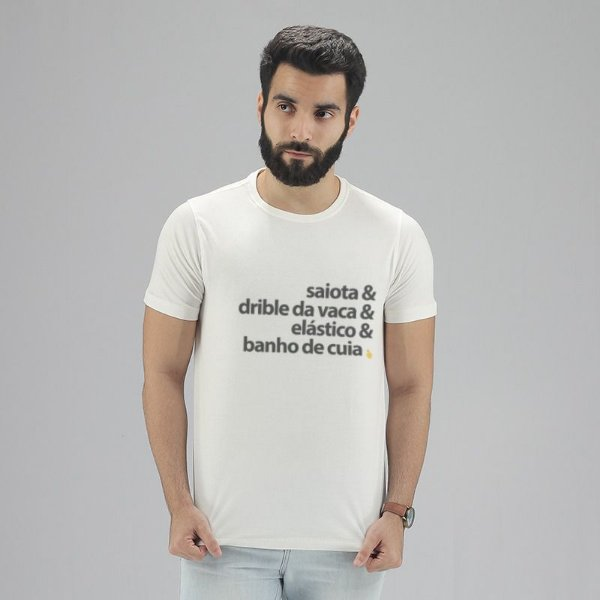 Camiseta Dribles Branca