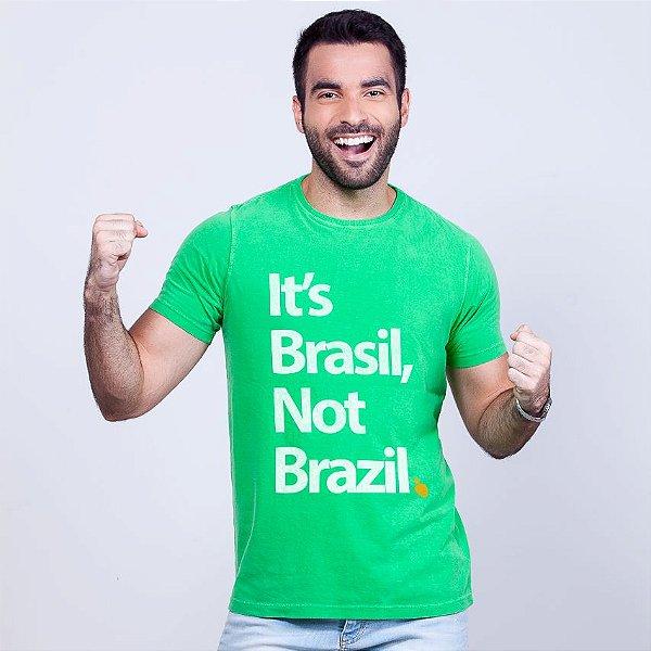 Camiseta Estonada Its Brasil Verde