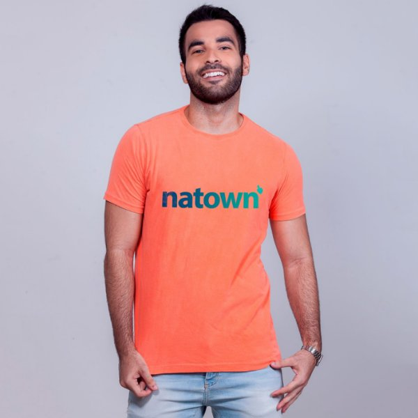 Camiseta Estonada Natown Laranja