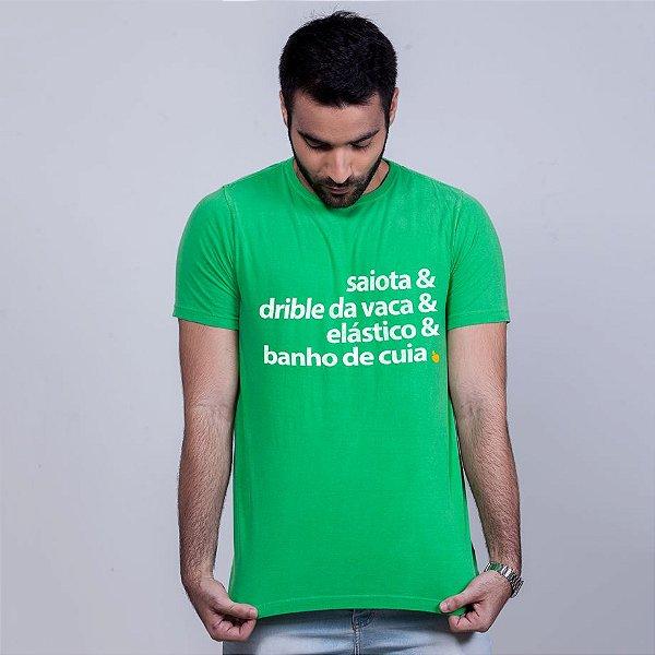 Camiseta Estonada Dribles Verde