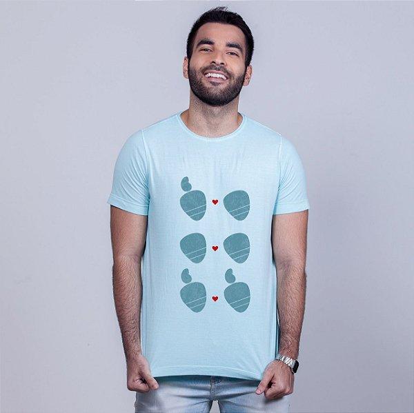 Camiseta Estonada Amor Sem Etiqueta Azul