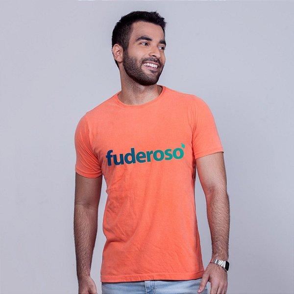 Camiseta Estonada Fuderoso Laranja Degradê