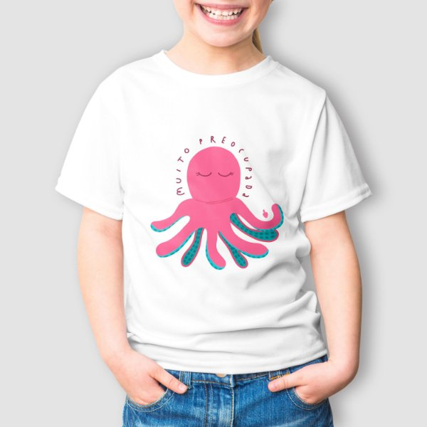 Camiseta Infantil Tô Muito Preocupada