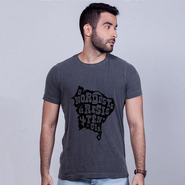 Camiseta Estonada O Nordeste é Resistência Chumbo
