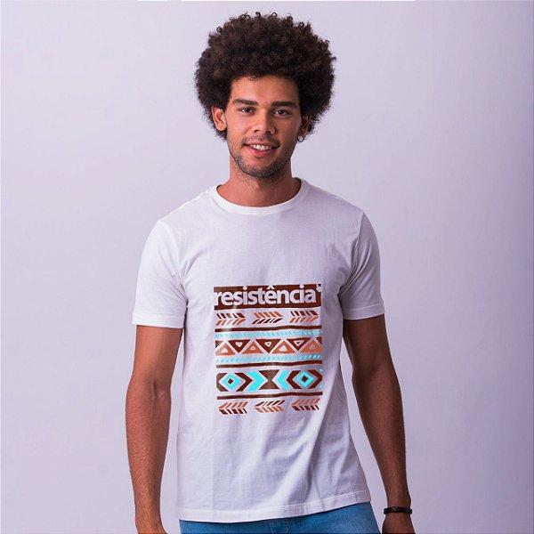 Camiseta Branca Resistência Étnica