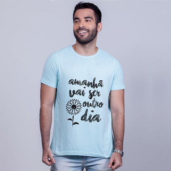 Camiseta Estonada Apesar de Você Azul Amandrafts