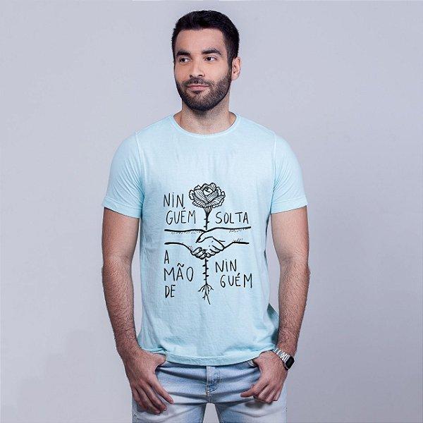 Camiseta Estonada Ninguém Solta Azul Amandrafts