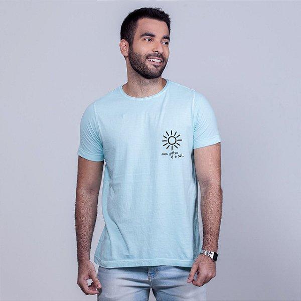 Camiseta Estonada Filtro Sol Azul