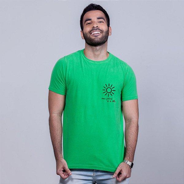 Camiseta Estonada Filtro Sol Verde