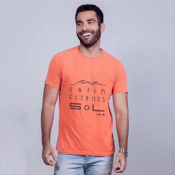 Camiseta Estonada Estamos Sol Laranja