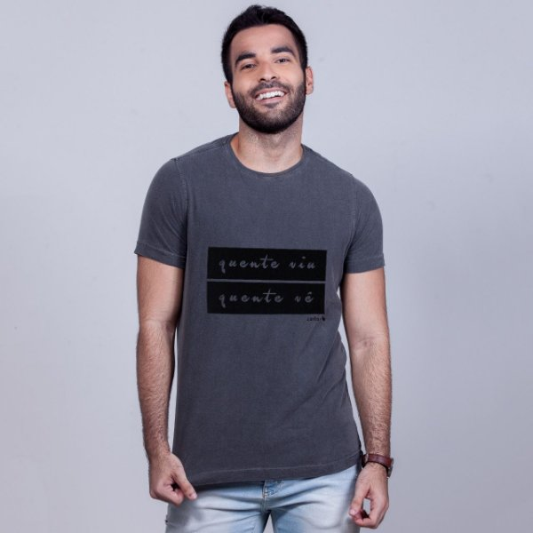 Camiseta Estonada Quente Viu, Quente Vê Chumbo Carito