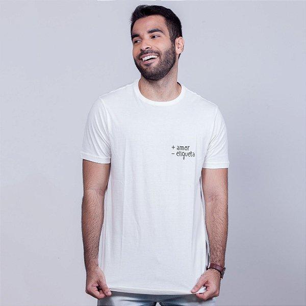 Camiseta + Amor Branca