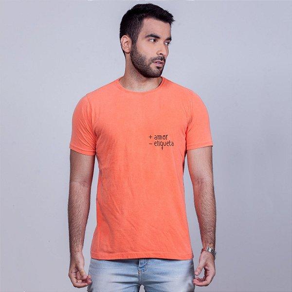 Camiseta Estonada + Amor Laranja