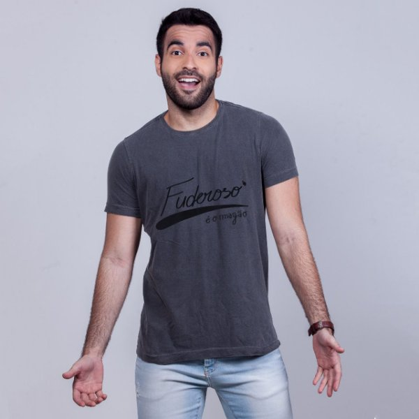 Camiseta Estonada Fuderoso e o Magão Chumbo