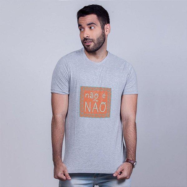 Camiseta Não é Não Mescla