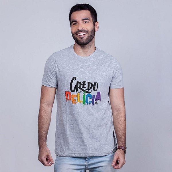Camiseta Credo que Delícia Mescla Amandrafts