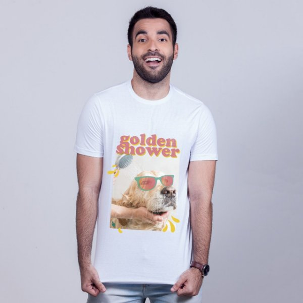 Camiseta Golden Shower Branca